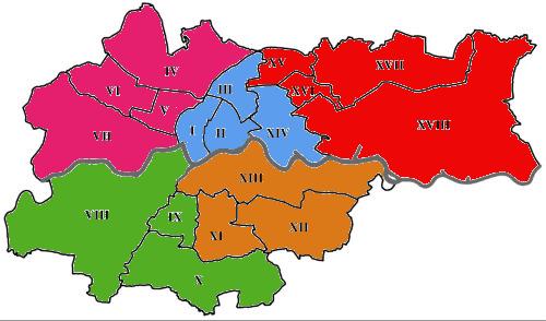 Kraków podział na sektory
