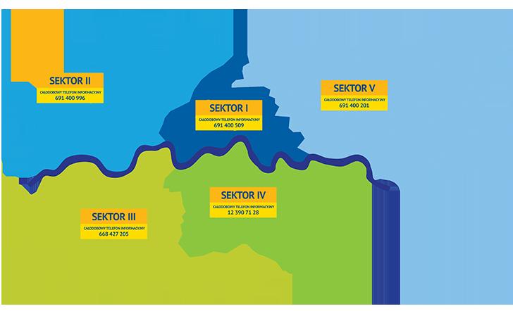 Sektory odbioru odpadów w Krakowie